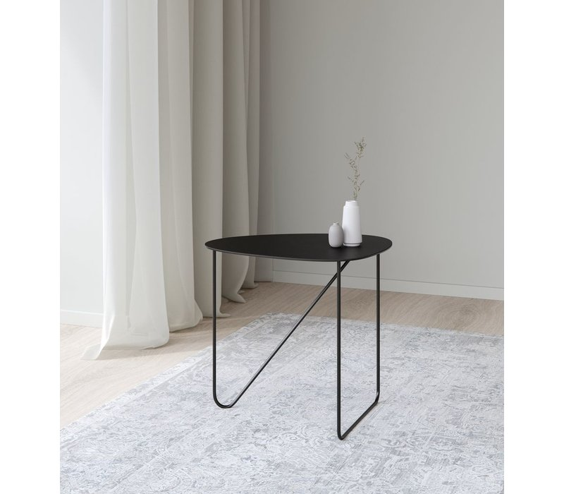 Curve Coffee Table Bull Black Leather