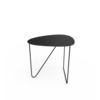 LIND DNA Curve Coffee Table Bull Black Leather