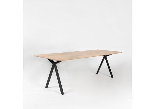 Studio Henk Eettafel Slim x-type - Eik/Zwart