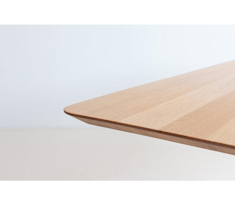 Eettafel Slim x-type - Eik/Wit