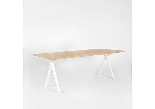 Studio Henk Eettafel Slim x-type - Eik/Wit