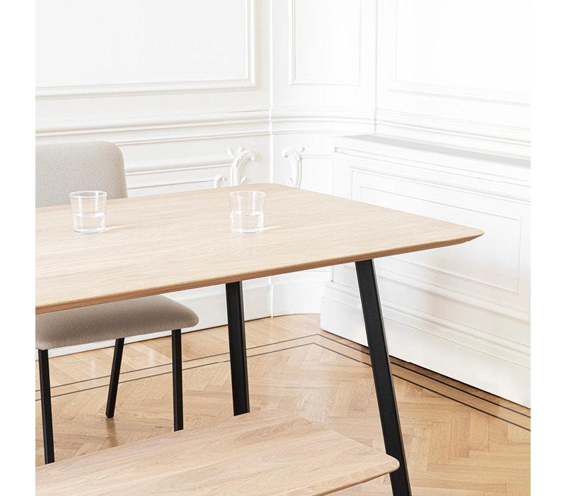 Eettafel New Classic - Eik/Zwart