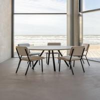 Eettafel Rond New Classic - Eik/Zwart