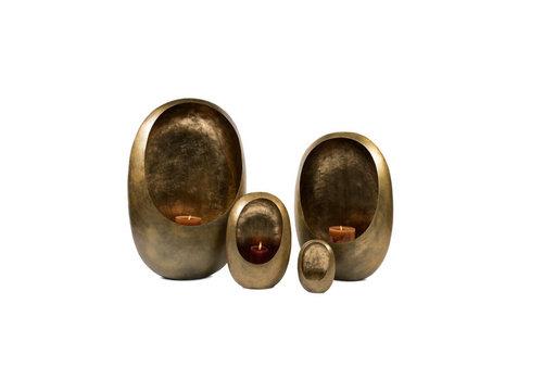 Dekocandle Theelichthouder Brass & Gold Standing Egg