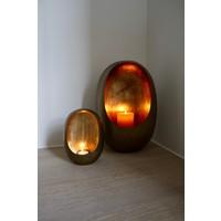 Theelichthouder Brass & Gold Standing Egg