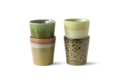 HKliving Ceramic 70's Coffee mugs Groen