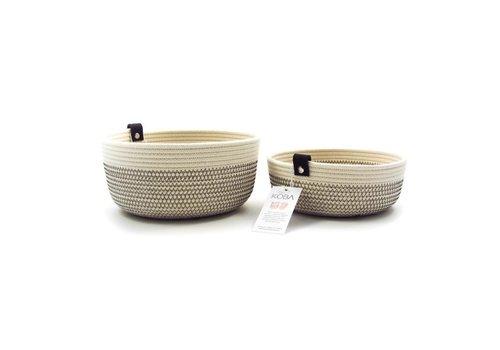 Koba Handmade Mandjes Ecru/Zwart