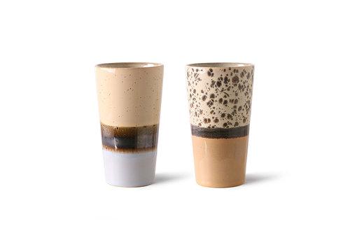 HKliving 70s ceramics: latte mugs