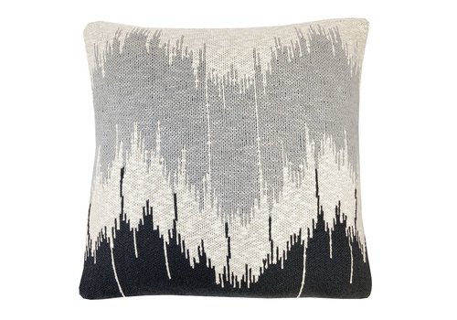 Malagoon Wave Knitted Kussen Antraciet