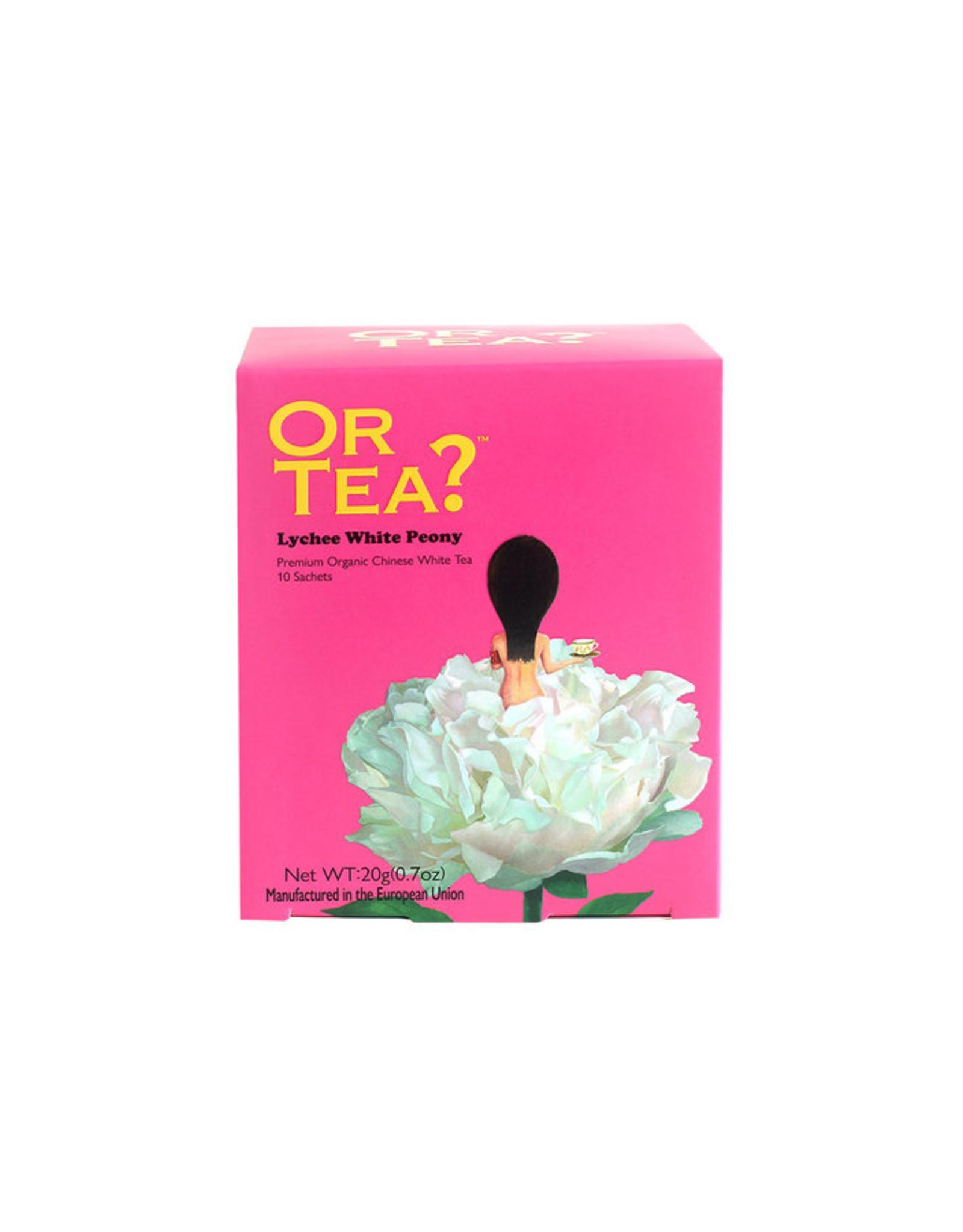 Or Tea? Organic Lychee White Peony - 10-Sachet Box (Pillow)