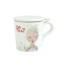 Or Tea? White Mug 300ml mug with stainless steel filter