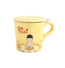 Or Tea? Ivory Mug 300ml mug with stainless steel filter