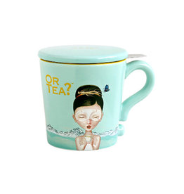Or Tea? Turquoise Mug 300ml mug with stainless steel filter