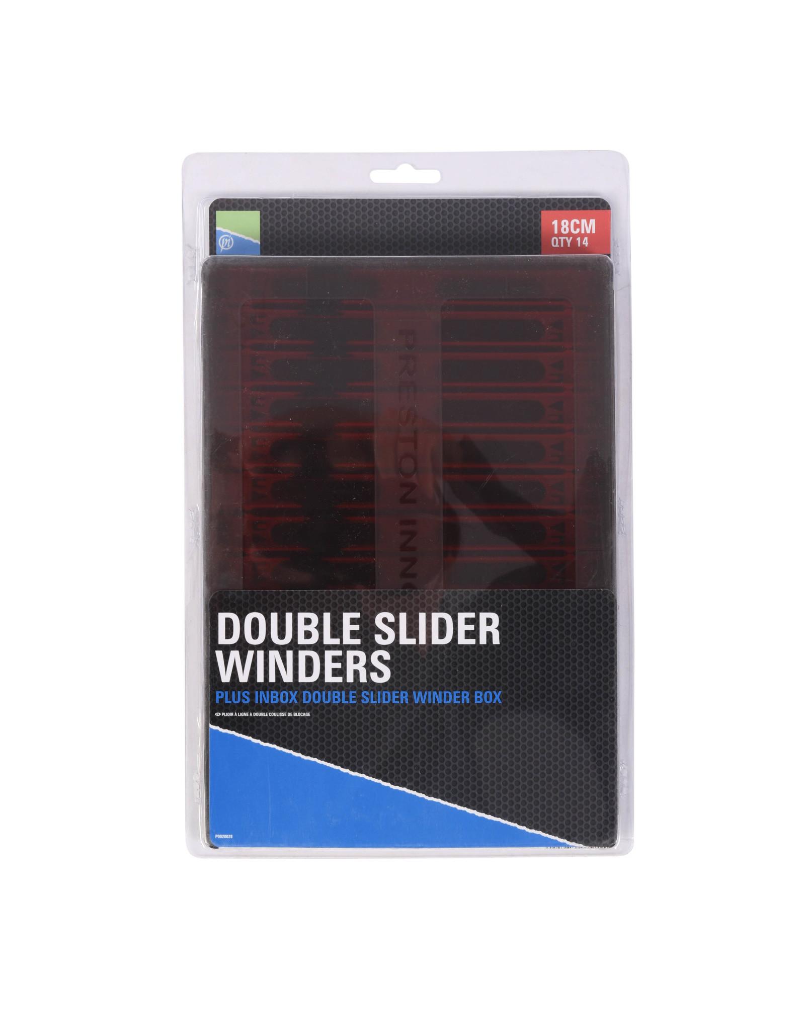 PRESTON DOUBLE SLIDER WINDERS 18cm IN A BOX