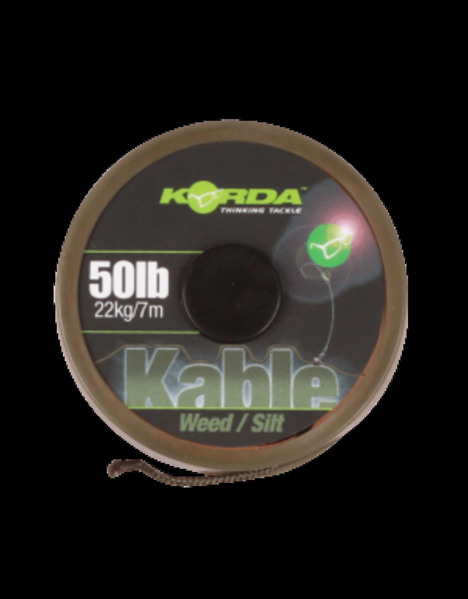 KORDA Kable Leadcore Weed / Silt 7 m.