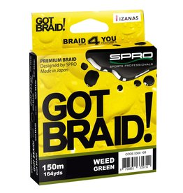 SPRO GOT BRAID! GREEN 150M