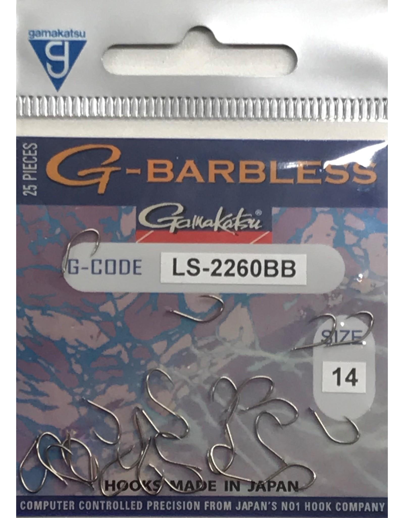 GAMAKATSU G-BARBLESS 2260BB HOOKS BRONZE