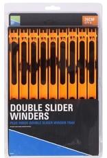 PRESTON DOUBLE SLIDER WINDERS 26cm IN A TRAY