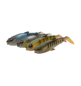 SAVAGE GEAR CRAFT CANNIBAL PADDLETAIL 8.5CM 7G CLEAR WATER MIX 4PCS