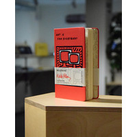 limited edition Keith Haring notebook pocket plain scarlet red