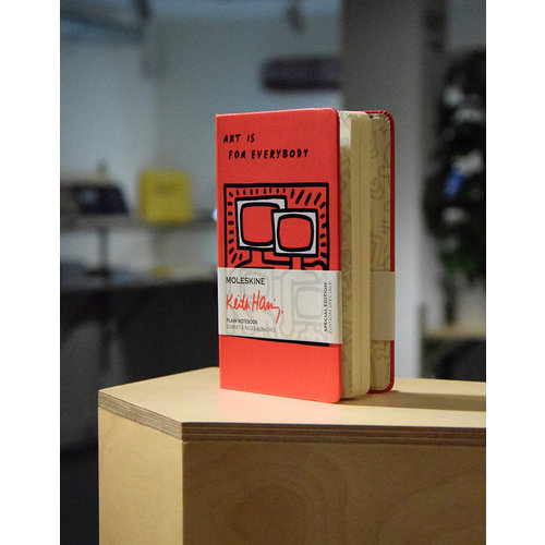 Limited edition Keith Haring pocket notebook (A6), plain paper.