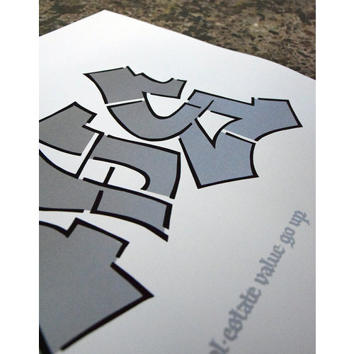 Shoe SHOE - The Difference (2020, Street Art edition) 50x70, Screen print, 300 gr paper, signed edition of 150