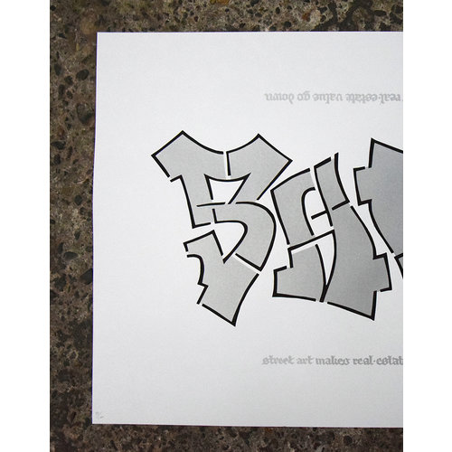 Shoe Shoe - The Difference (2020, Sreet Art edition) 50x70, Screen print, 300 gr paper, signed edition of 75