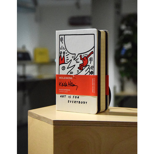 limited edition keith haring notebook pocket ruled white