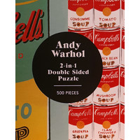 Abrams&Chronicle Andy warhol soup can 2-sided 500 piece puzzle