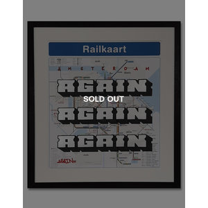 AGAIN Amsterdam Metro Stop Map Black (SOLD OUT)
