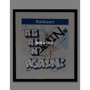 AGAIN Amsterdam Metro Stop Map Blue (SOLD OUT)