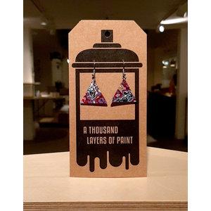 Earrings dangle triangle