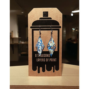 Earrings dangle diamond