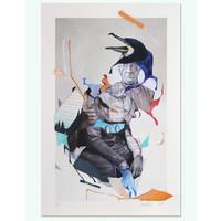 Straat Museum Joram Roukes -  Cormorant hand finished  print