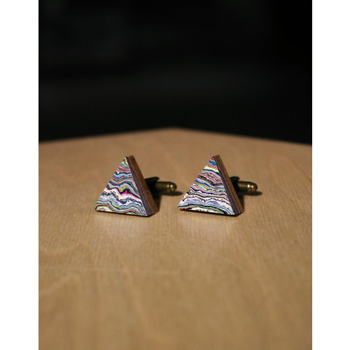 Koema Cufflinks Triangle #002