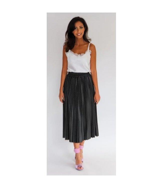 Est'Seven Est'Seven plisse skirt