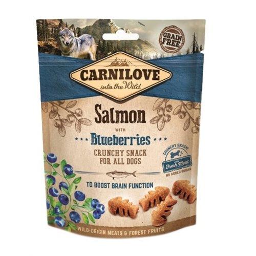 Carnilove Carnilove crunchy snack zalm / blauwe bes