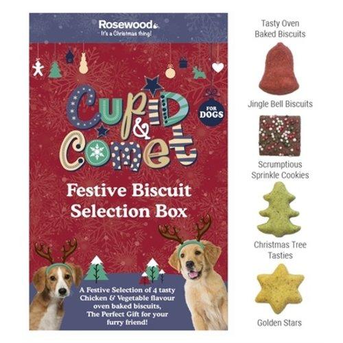 Cupid & comet Cupid & comet festive biscuit selectiebox