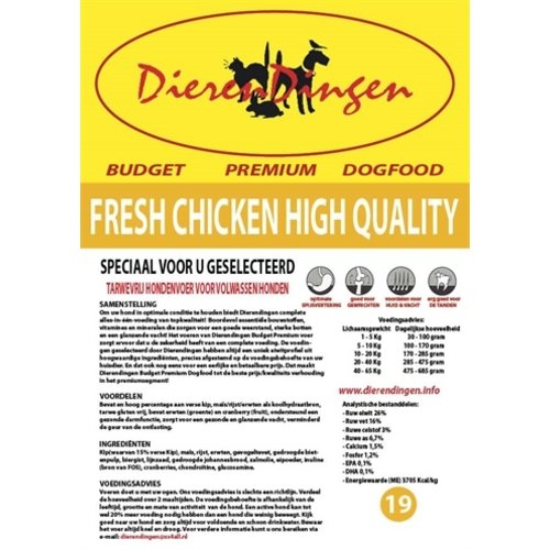 Merkloos Budget premium dogfood fresh chicken high quality