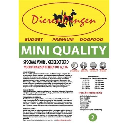 Merkloos Budget premium dogfood adult mini quality
