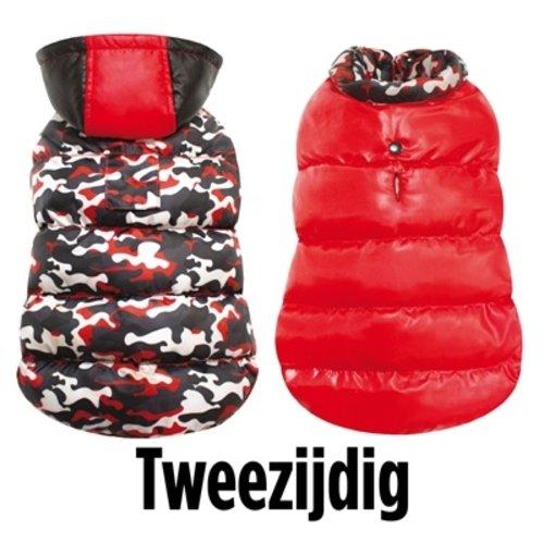 Croci Croci hondenjas camouflage rood/zwart/wit