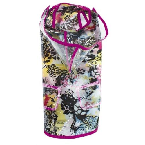 Croci Croci regenjas jaguar print roze naad