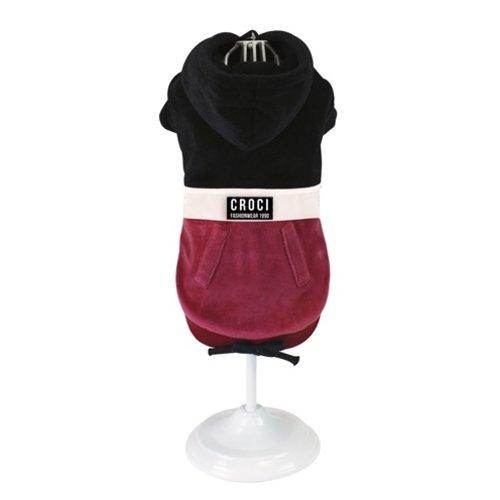 Croci Croci hondentrui sweater fashionwear zwart / creme / rood
