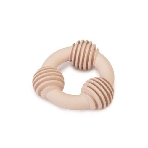 Beeztees Beeztees puppy dental ring rubber roze