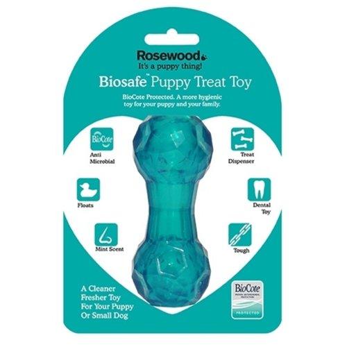 Biosafe Biosafe puppy snack dumbell blauw