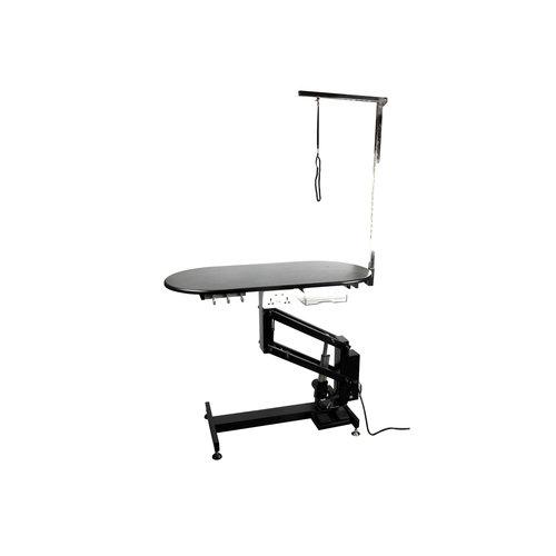 Groom -X Groom-X Pro Special Ovalen Electrische Salon Tafel 110x55x53-109cmh met Controlestang