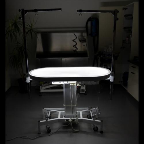 Groom -X Groom-X Compact Electrische Ovalen Tournament Tafel met licht L119xB61xH64-89 cm