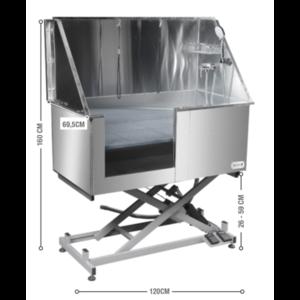 Groom -X Groom-X Inox Electrisch Bad met Thermostatische Kraan