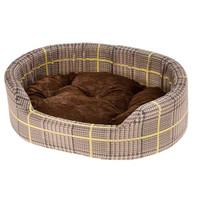 Ferplast hondenmand Dandy 55 x 80 cm katoen bruin/geel 2-delig