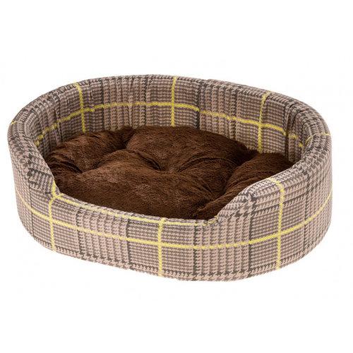 Ferplast Ferplast hondenmand Dandy 55 x 80 cm katoen bruin/geel 2-delig